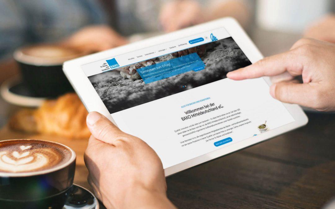 Relaunch für die Website der BÄKO Mitteldeutschland