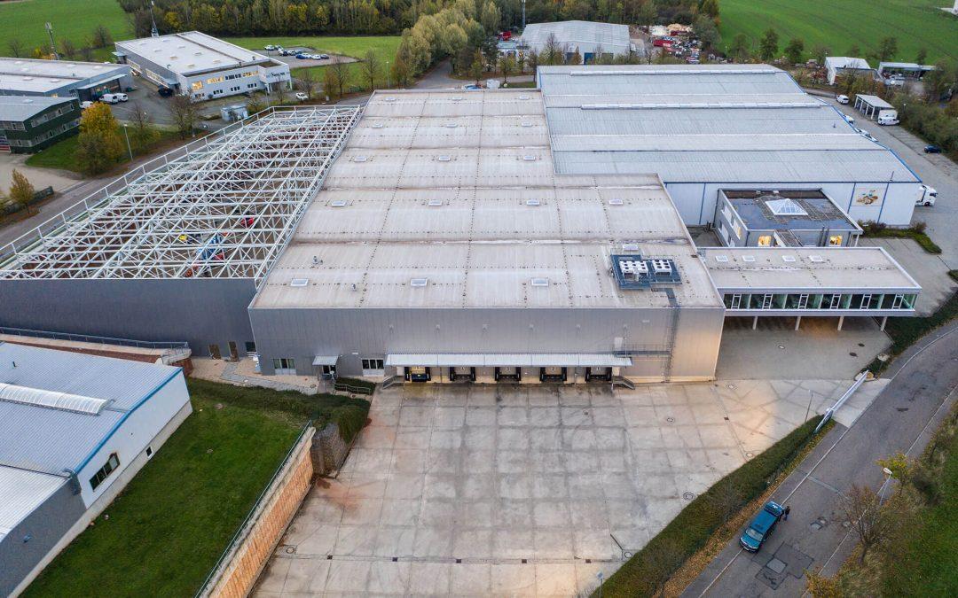 Grundstückserweiterung – Bau einer 3000qm Tiefkühlhalle